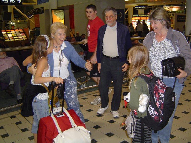 Meeting Oma & Opa at Brisbane airport